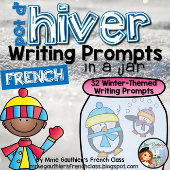 FRENCH WINTER WRITING PROMPTS IN A JAR