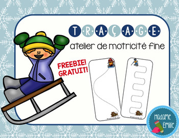 FRENCH Winter Tracing mats FREE/ Fiches de traçage hiver {