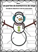 FRENCH {Winter}Math and literacy Pack/ Hiver {littératie e