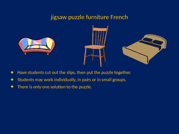 FRENCH furniture jigsaw puzzle