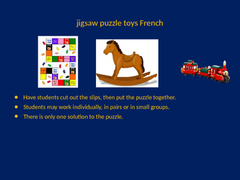 FRENCH toys jigsaw puzzle