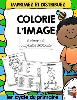 Printemps - Colorie l'image du printemps (color the image)