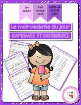 FRENCH/Le mot-vedette du jour (noms G à M)/liste orthograp