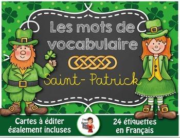 Saint-Patrick//24 mots de vocabulaire