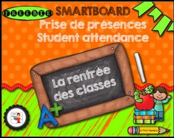 FRENCH/SMARTBOARD/Attendance back to school/Prise de prése