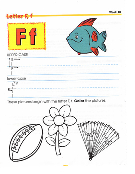 F,R,G,P,W,J CONSONANT LETTERS FOR WEEKS 10-18 SUMMER READI