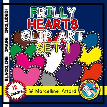 VALENTINE'S DAY CLIPART HEARTS: FRILLY HEARTS CLIPART: VAL