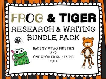 FROG & TIGER Animal Research and Informational Writing BUN