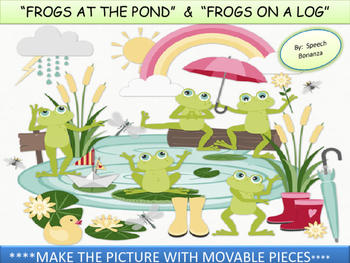 """""""FROGS AT THE POND"""" & """"FROGS ON A LOG"""" - INTERACTIVE PIECE"""
