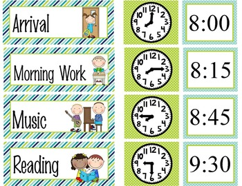 FROGS - Schedule Cards / editable MS WORD / Illustrated