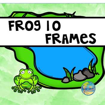 FROGS--Ten Frames, (0-20), Vocabulary Word Cards, Days of