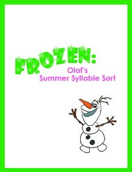 FROZEN: Olaf's Summer Syllable Sort!