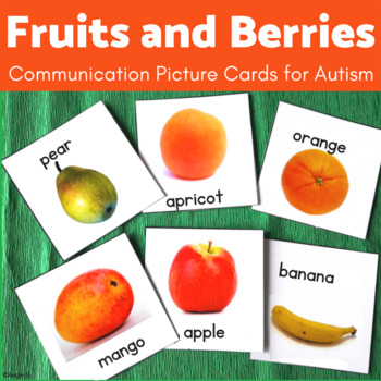 Autism Communication Cards- Fruits & Berries