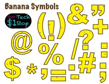 FRUITY BANANA * Bulletin Board Letters * Symbols * Punctuation