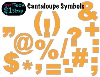 FRUITY CANTALOUPE * Bulletin Board Letters * Symbols * Pun