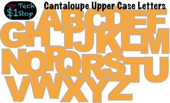 FRUITY CANTALOUPE * Bulletin Board Letters * Upper Case *