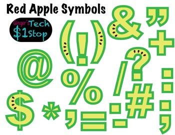 FRUITY GREEN APPLE * Bulletin Board Letters * Symbols * Pu