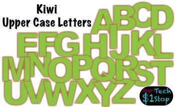 FRUITY KIWI * Bulletin Board Letters * Upper Case * Alphab