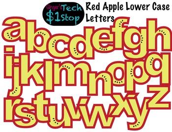 FRUITY RED APPLE * Bulletin Board Letters * Lower Case * Alphabet