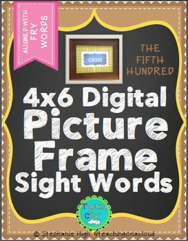 FRY FIFTH HUNDRED Digital Picture Frame Sight Words 4X6