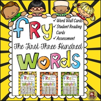 FRY'S FIRST THREE HUNDRED WORDS BUNDLE { WORD WALL, READIN