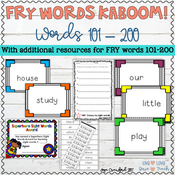 Sight Words Game and Resources ~ Fry Words 101-200