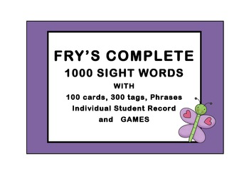 FRY'S 1000 WORDS COMPLETE