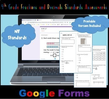 FSA / Common Core 4th Grade Fractions and Decimals (NF) Te