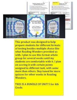FSA Bundle - Unit 5 - Fourth Grade - Reading Wonders