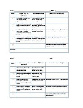 FSA Common Core Essay Rubric