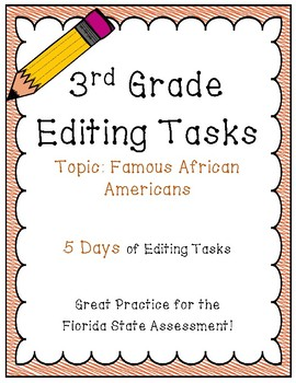 FSA Editing Task Practice - 3rd Grade
