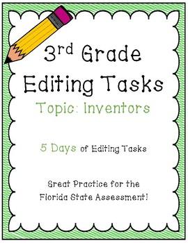 FSA Editing Task Practice #4- 3rd Grade