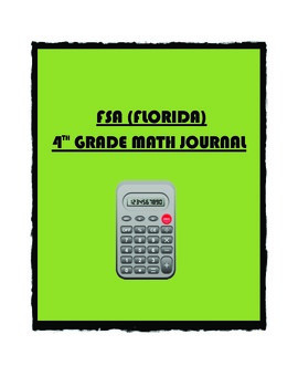 FSA (FLORIDA) Math 4th Grade Year Long Journal (With Stude