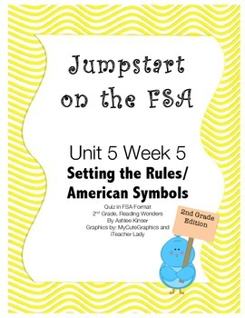 FSA Jumpstart - Second - Wonders - Unit 5 Week 5 - Setting