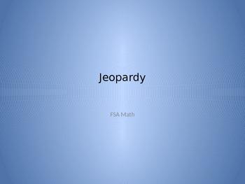 FSA Math Jeopardy