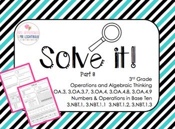 FSA Math Test Word Problems 85 FSA and Common Core (OA 3-4