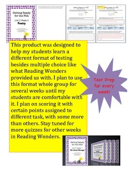 FSA Prep - Reading Wonders - Fourth Grade - Unit 2 Bundle