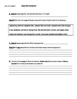 FSA Quiz - Mcgraw-Hill Wonders Unit1, Week 3 Grade 3 - Gar