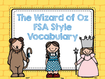 FSA Style Vocabulary