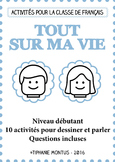 FFL/FSL - Activities to learn French - All about me