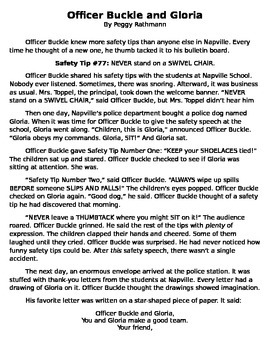FULL TEXT - Officer Buckle and Gloria by Peggy Rathmann -