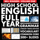 FULL YEAR of H.S. English Vol. 1 –  Vocabulary, Grammar &