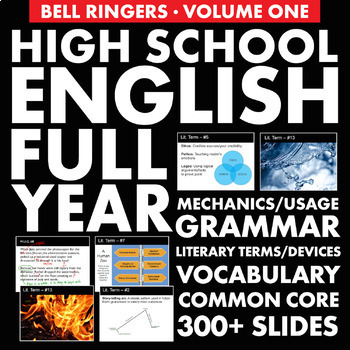 Bell Ringers – H.S. English Vol. 1 –  Vocabulary, Grammar