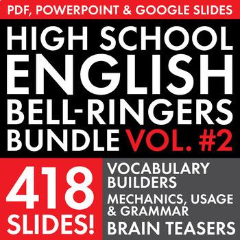 Bell Ringers – H.S. English Vol. 2 – Vocab, Grammar & Logi