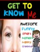 BACK TO SCHOOL  / All About Me  / FUN POSTERS for  BIGGER KIDS