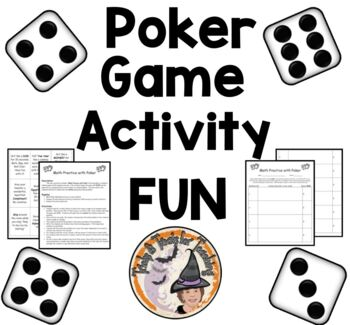 Math Practice with Poker GAME Class Activity All Skills FU