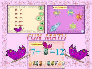 Back to school - FUN MATH - Addition and Subtraction - Pow