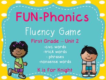 FUN-Phonics Unit 2 Fluency Game