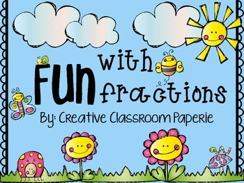 FUN with Fractions: worksheets, centers, vocab & anchor charts
