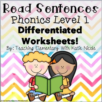 First Grade Differentiated Worksheets: Read & Find Trick/S